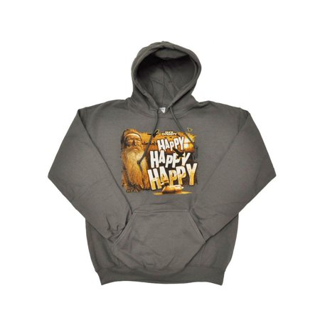 Duck Dynasty Men's Happy Happy Happy Pullover Hoodie, XX-Large (Daisy Duck Sweatshirt)