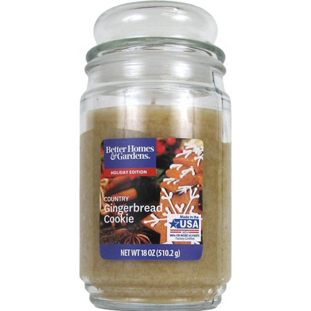 Better Homes And Gardens Jar Candle, Country Gingerbread Cookies, 18oz