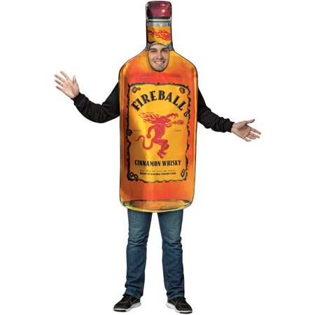 Fireball Bottle Men's Adult Halloween Costume
