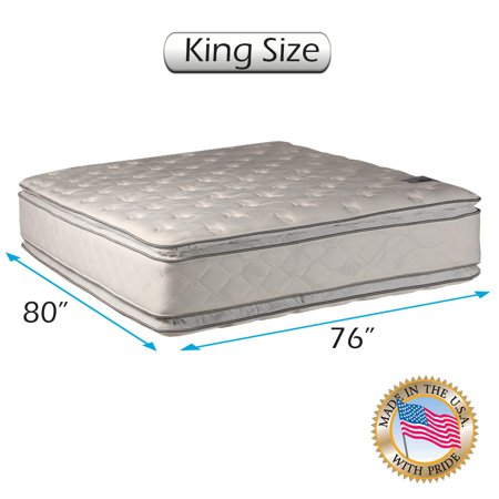 Natural Dream - Medium Soft PillowTop (King) Mattress Only - Double-Sided Sleep System with Enhanced Cushion Support- Fully Assembled, Back Support, Longlasting by Dream Solutions USA