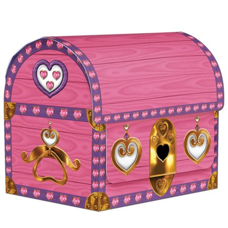 - 48 Pink Princess Birthday Party 3-D Treasure Chest Favor and Treat Boxes 4.25