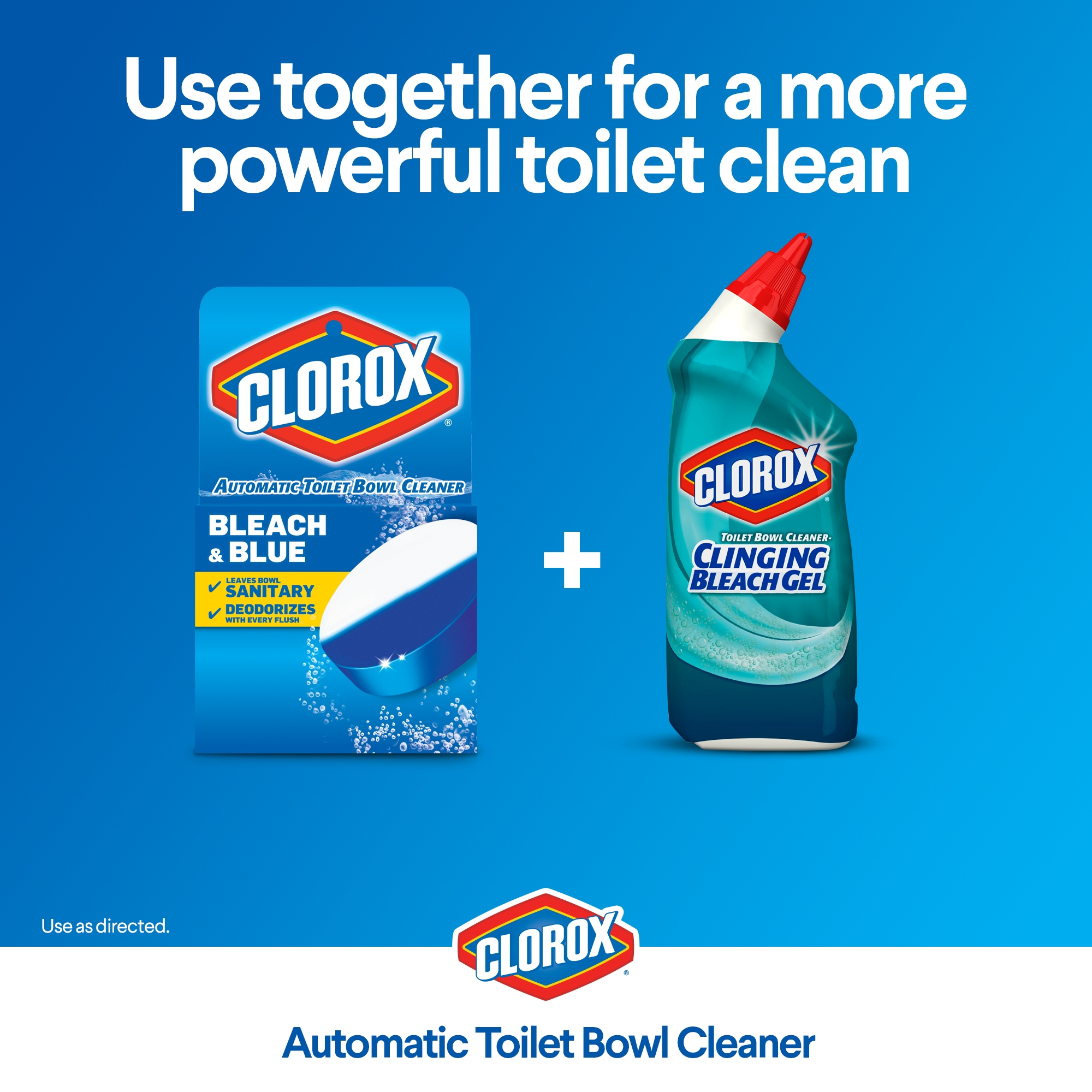 Clorox Automatic Toilet Bowl Cleaner Tablets, Bleach & Blue - Rain ...