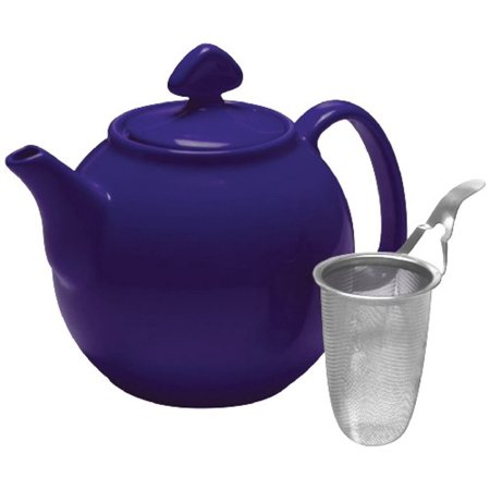 Chantal Tea for 4-Teapot with Stainless Steel Infuser, 1-1/2-Quart Capacity, Indigo (Chantal Teapot)