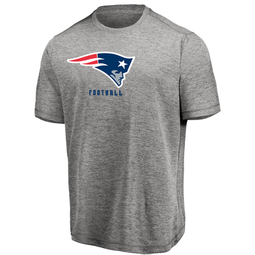 Men's Majestic Heathered Gray New England Patriots Proven Winner Synthetic TX3 Cool Fabric T-Shirt