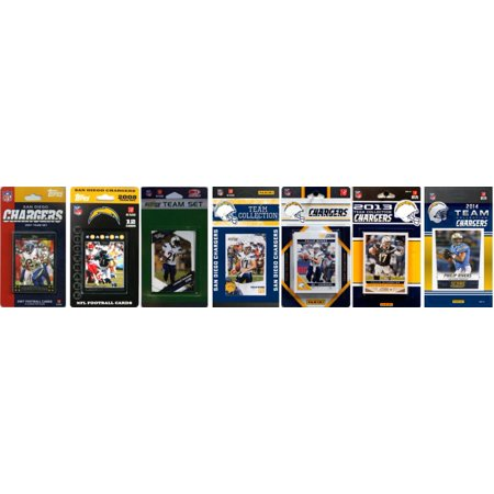San Diego Chargers Halloween Costumes (C&I Collectibles NFL San Diego Chargers 7 Different Licensed Trading Card Team Sets)