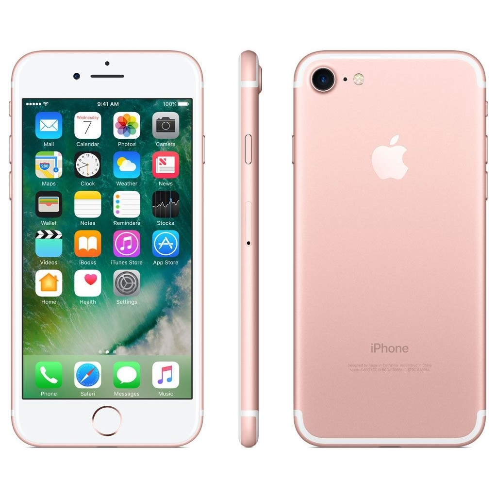 "Apple iPhone 7 128GB 4.7"" AT&T (Rose Gold)-Certified (Certified Refurbished)"