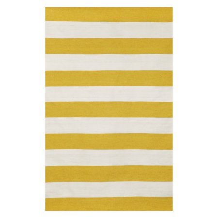 Liora Manne Sorrento 6302 09 Rugby Stripe Yellow Area Rug 7 Feet 6 Inches X 9 Feet 6 Inches