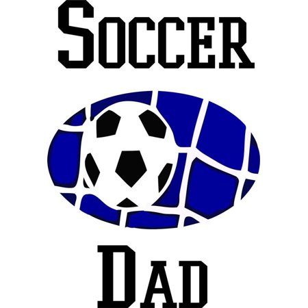 Soccer Dad - Wall Decal Picture Art Living Room Peel & Stick Sticker - Vinyl Wall Decal