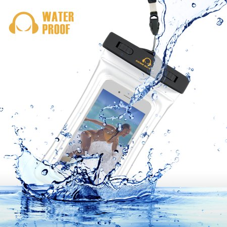 Gear Beast Heavy Duty Universal Cell Phone Dry Bag IPX8 Certified Floating Waterproof Case Pouch for iPhone X 8 Plus 7 Plus 8 7 Plus 7 6s 6 Plus Galaxy S8 Plus S8 S7 Edge S7 S6 Note 8 5 (WPB-FLT-MED) - Le Duty Gear Handcuff Pouch