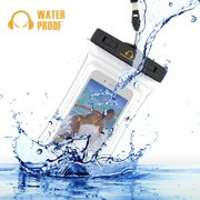 Gear Beast Heavy Duty Universal Cell Phone Dry Bag IPX8 Certified Floating Waterproof Case Pouch for iPhone X 8 Plus 7 Plus 8 7 Plus 7 6s 6 Plus Galaxy S8 Plus S8 S7 Edge S7 S6 Note 8 5 (WPB-FLT-MED)