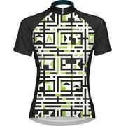 Primal Wear Amazing Women's Cycling Jersey: Black/White/Green, XL