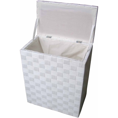 Baum Standard-Size Natural Cord Lined Hamper, White by Generic