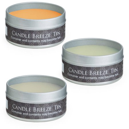 Candle Breeze Tin Multipack: Summer Mango, Pineapple Cilantro, Vanilla Pear