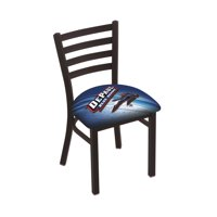 L00418 Black Wrinkle DePaul Stationary Chair with Ladder Style Back by the Holland Bar Stool Co.