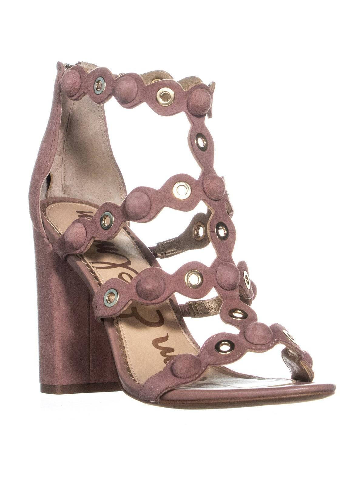 Womens Sam Edelman Yuli Strappy Heeled Sandals, Dusty Rose