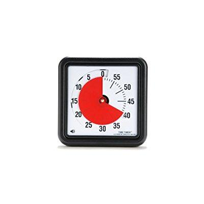 Analog Timer (time timer 8 inch, 60 minute visual analog timer with flip out legs and optional alert )