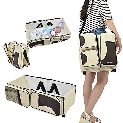 703E 3 in 1 Baby Diaper Bag Multi-function as Travel Bass...