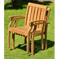 Add-on Item: Palmer Stacking Arm/Captain Grade-A Teak Wood Luxurious Solo Single Dining Chair WholesaleTeak #WMDCARPM