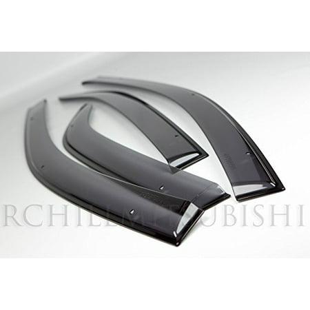 Mitsubishi Visor (2008 2009 2010 2011 2012 2013 2014 GENUINE MITSUBISHI LANCER & EVO & SPORTBACK DOOR VENT SHADE VISORS SUN SHADE WINDOW SHIELDS KIT)