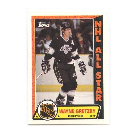 1989-90 Topps Sticker #11 Wayne Gretzky Edmonton Oilers Insert (Wayne Gretzky Hockey Card)