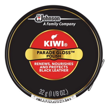 KIWI Parade Gloss Shoe Polish, Black, 1.125 oz (1 Metal Tin)
