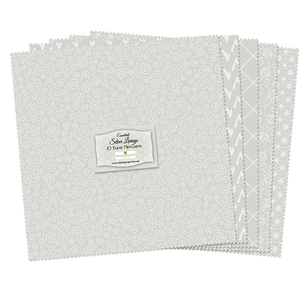 Wilmington Prints Fabrics Silver Linings Essentials Ten Inch Crystals 24 Ten Inch Squares