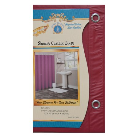 Burgundy Vinyl Shower Curtain Liner With Metal Grommets Magnets