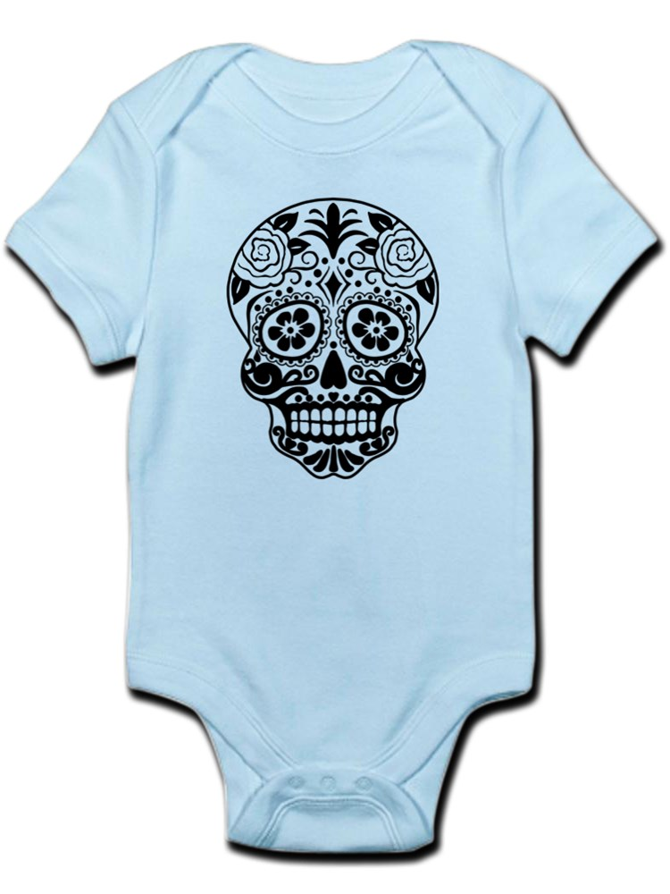 Black Sugar Skull CafePress Cute Infant Bodysuit Baby Romper