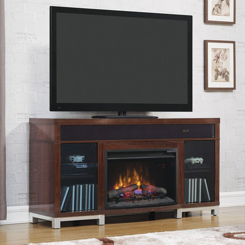 Classic Flame Roxbury Media Infrared Electric Fireplace with Sound