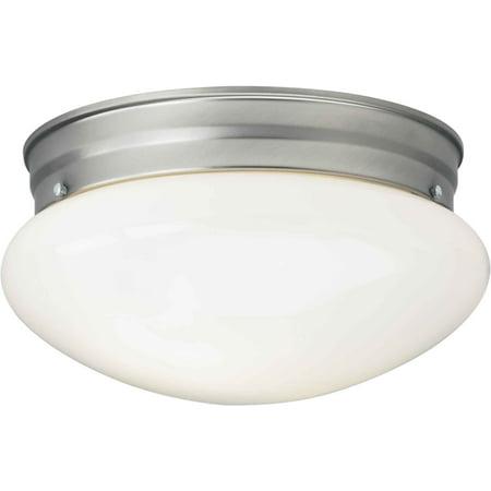 Forte Lighting Signature 1 Light 10 inch Brushed Nickel Flush Mount Ceiling Light