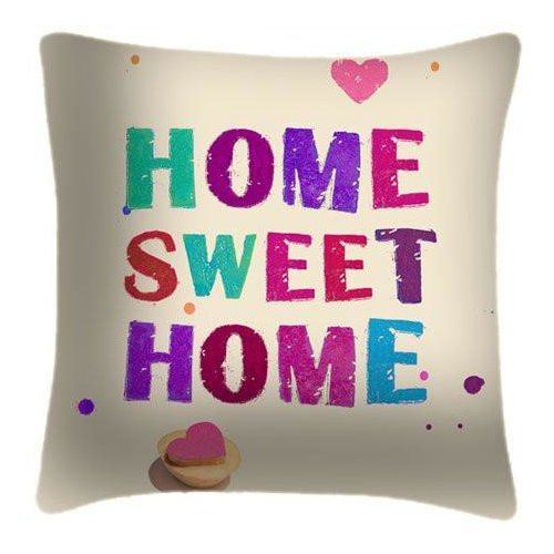 Zoomie Kids Houchins Home Sweet Home Throw Pillow