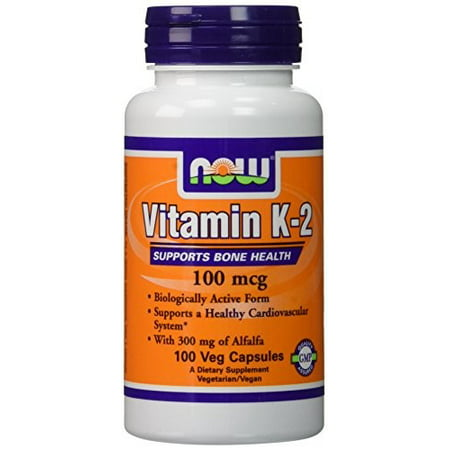 NOW Foods La vitamine K-2 100 mcg 100 Vegetarian Capsules