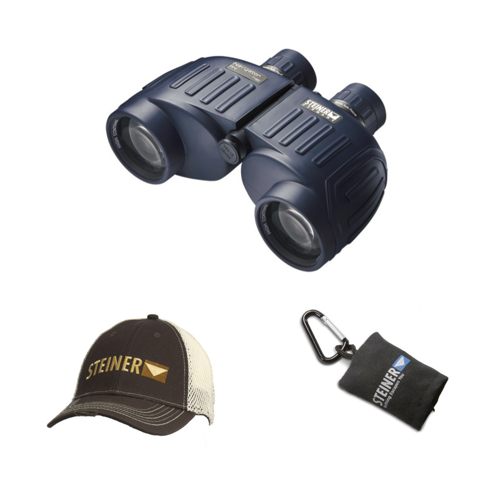 Steiner Navigator Pro 7x50 Binoculars with Cap and Microfiber Lens Cloth Pouch