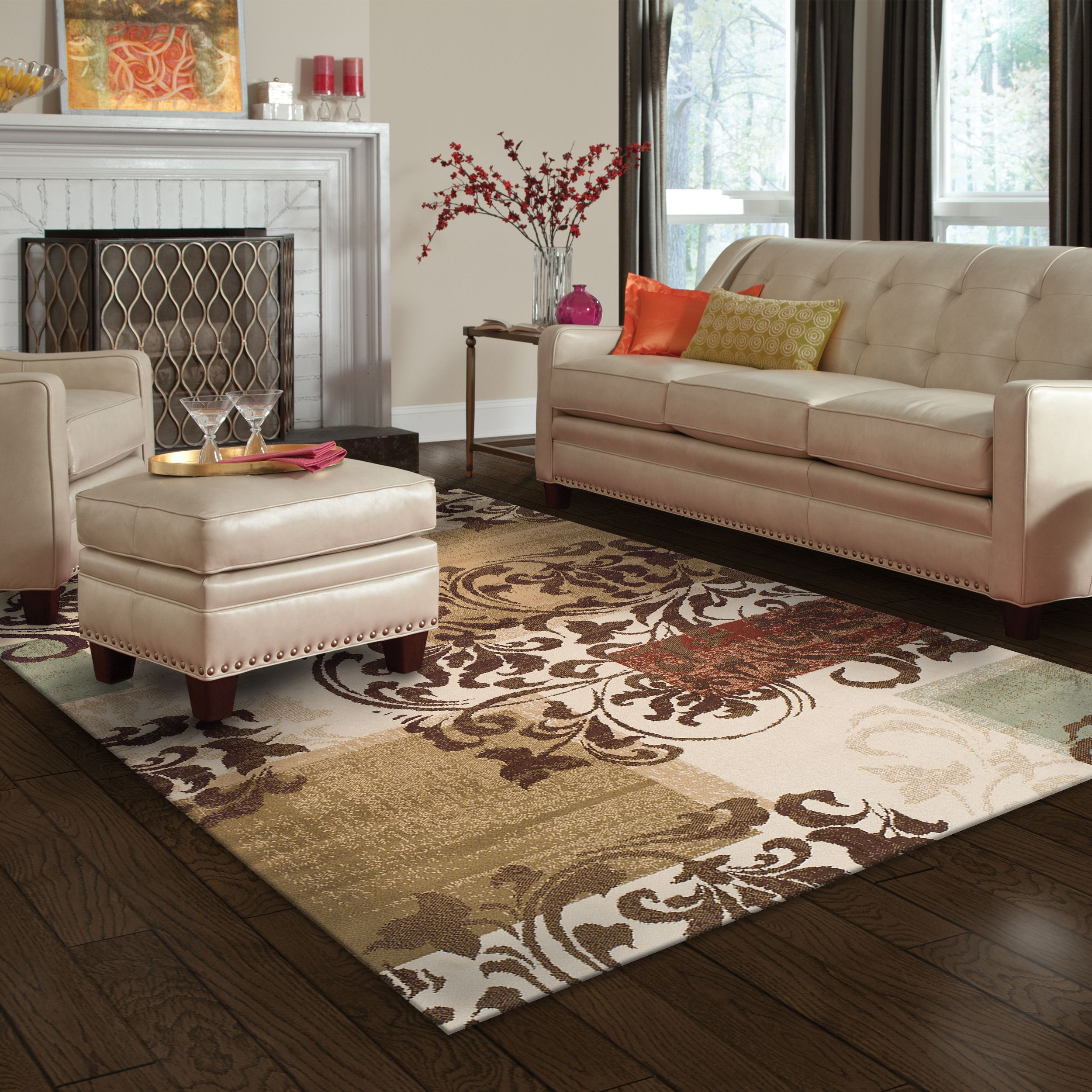 Superior Modern Storyville Scroll Collection with 10mm Pile and Jute Backing, Moisture Resistant and Anti-Static Indoor Area Rug