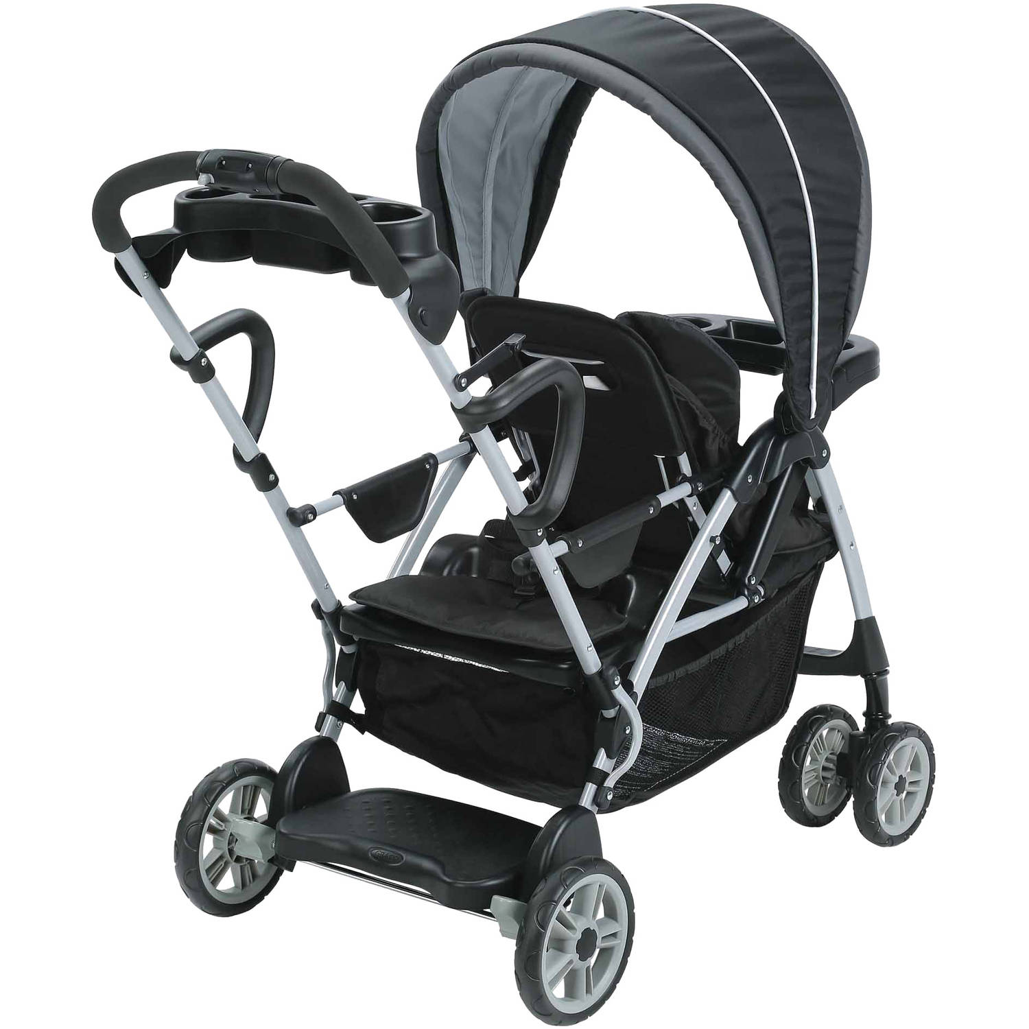 Graco Room For 2 Click Connect Stand & Ride Double Stroller, Gotham