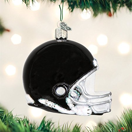 Old World Christmas Glass Blown Ornament Football Helmet (44109) - Football Christmas Ornaments