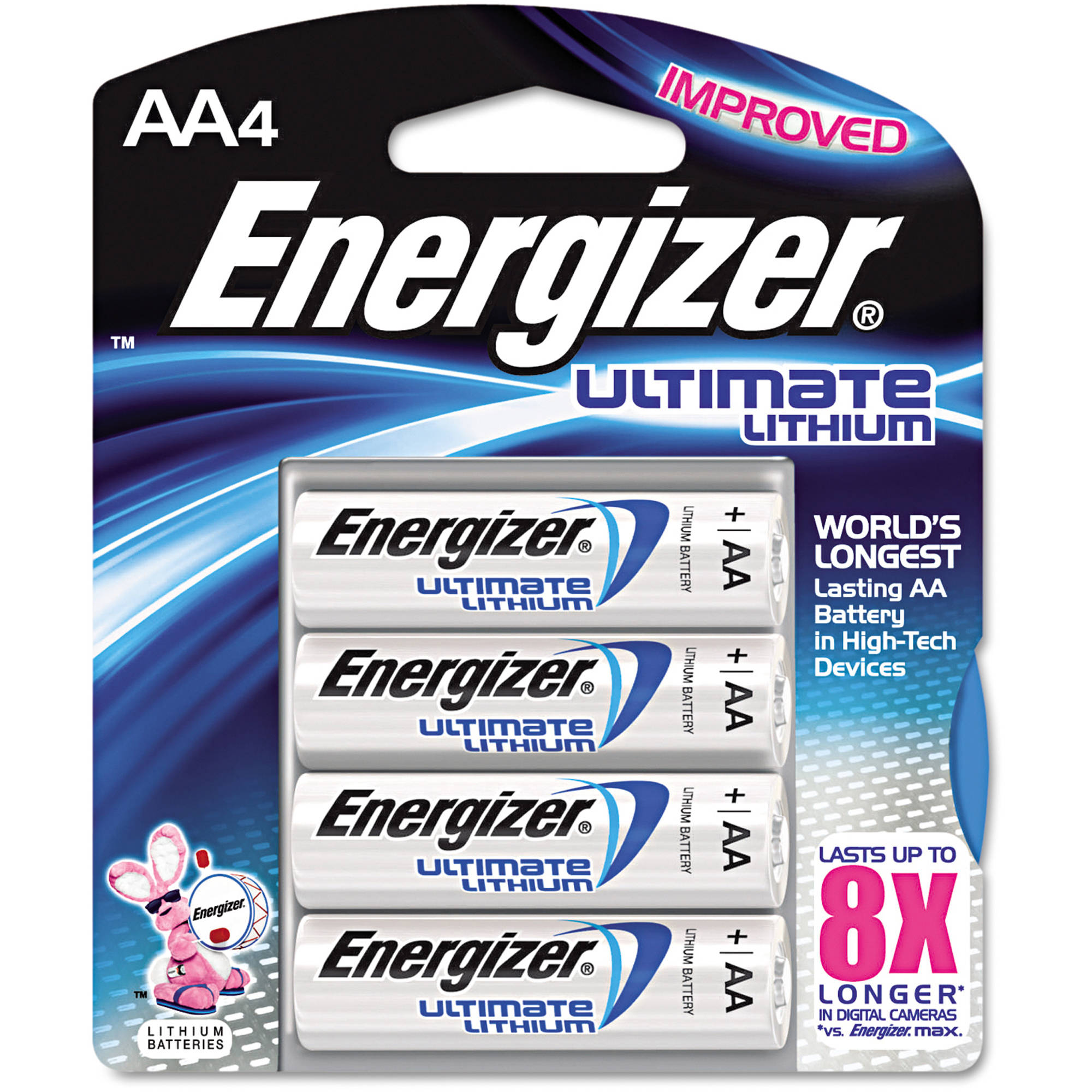 Energizer e2 Lithium Batteries, AA, 4-pack