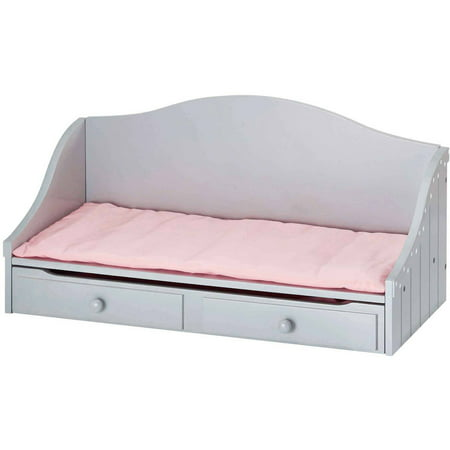 Excellent Olivias Little World 18 Doll Furniture Trundle Bed Gray Polka Dots Home Interior And Landscaping Ologienasavecom