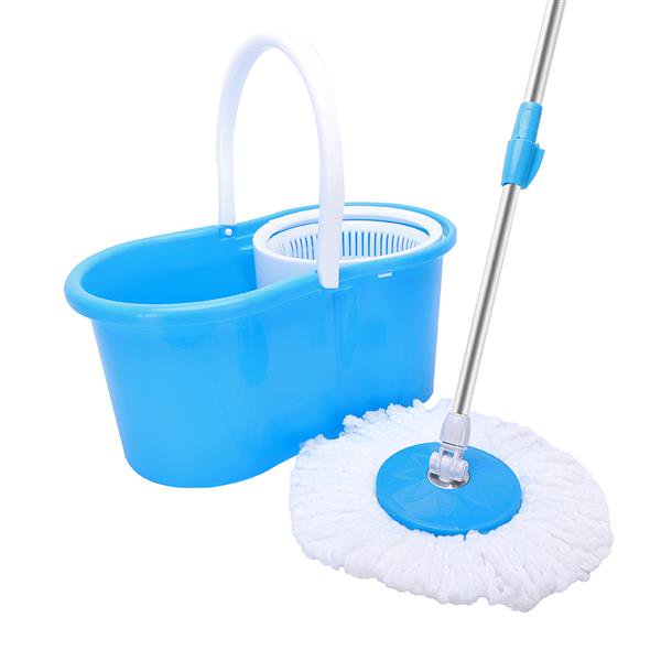 360° Spin Mop with Bucket & Dual Mop Heads Blue