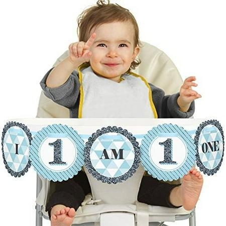 Fun to be One - 1st Birthday Boy - I Am One - First Birthday High Chair - High Chair Decorations 1st Birthday Boy