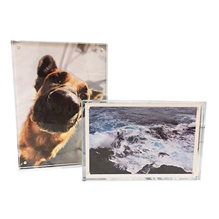 - Yanxuan 5x7 Acrylic Magnetic Picture Frame, Stable Tabletop Double Sided Photo Frame (Acrylic)