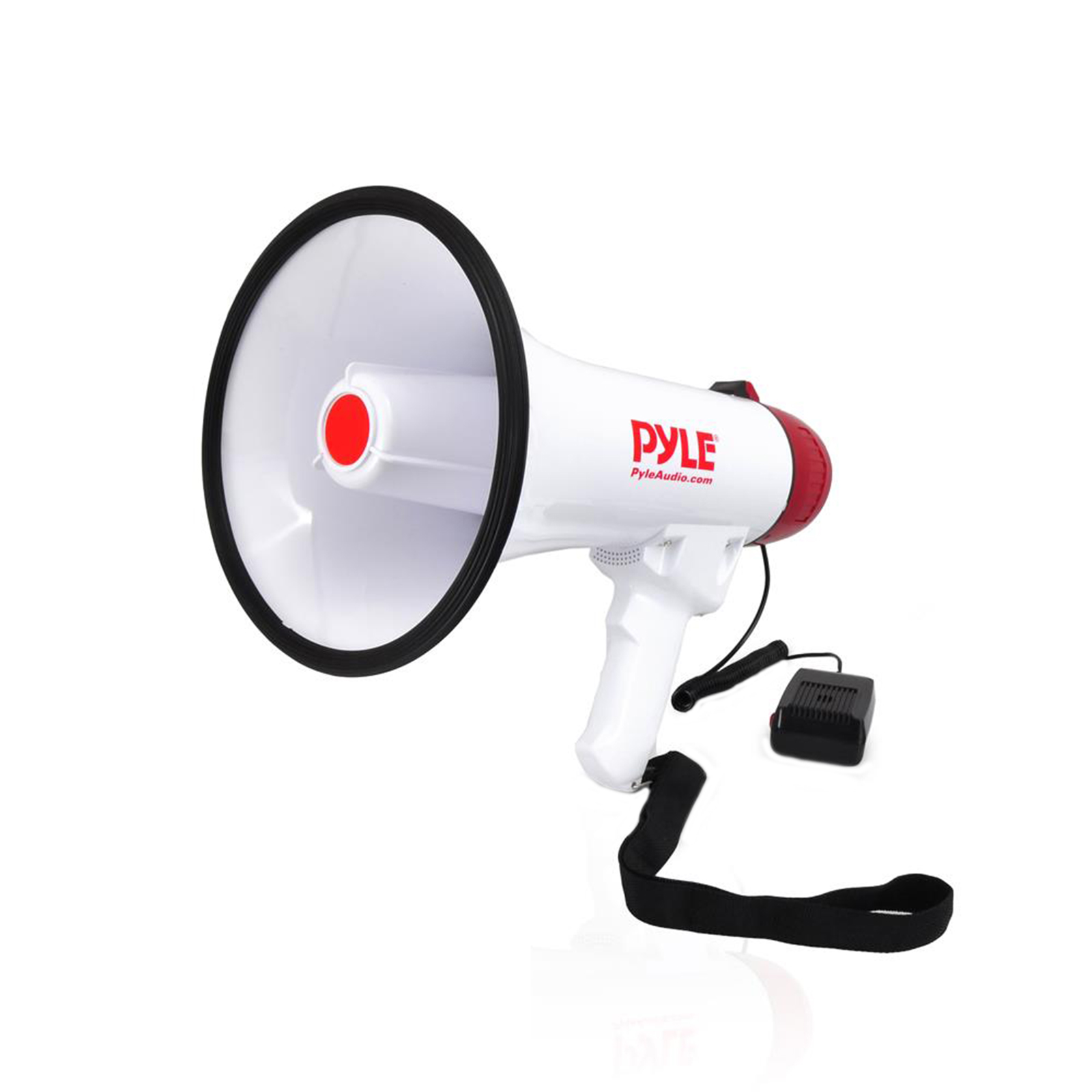 BT Megaphone Bullhorn with AUX (3.5mm) Input Built-in USB Flash and SD Memory Card Readers