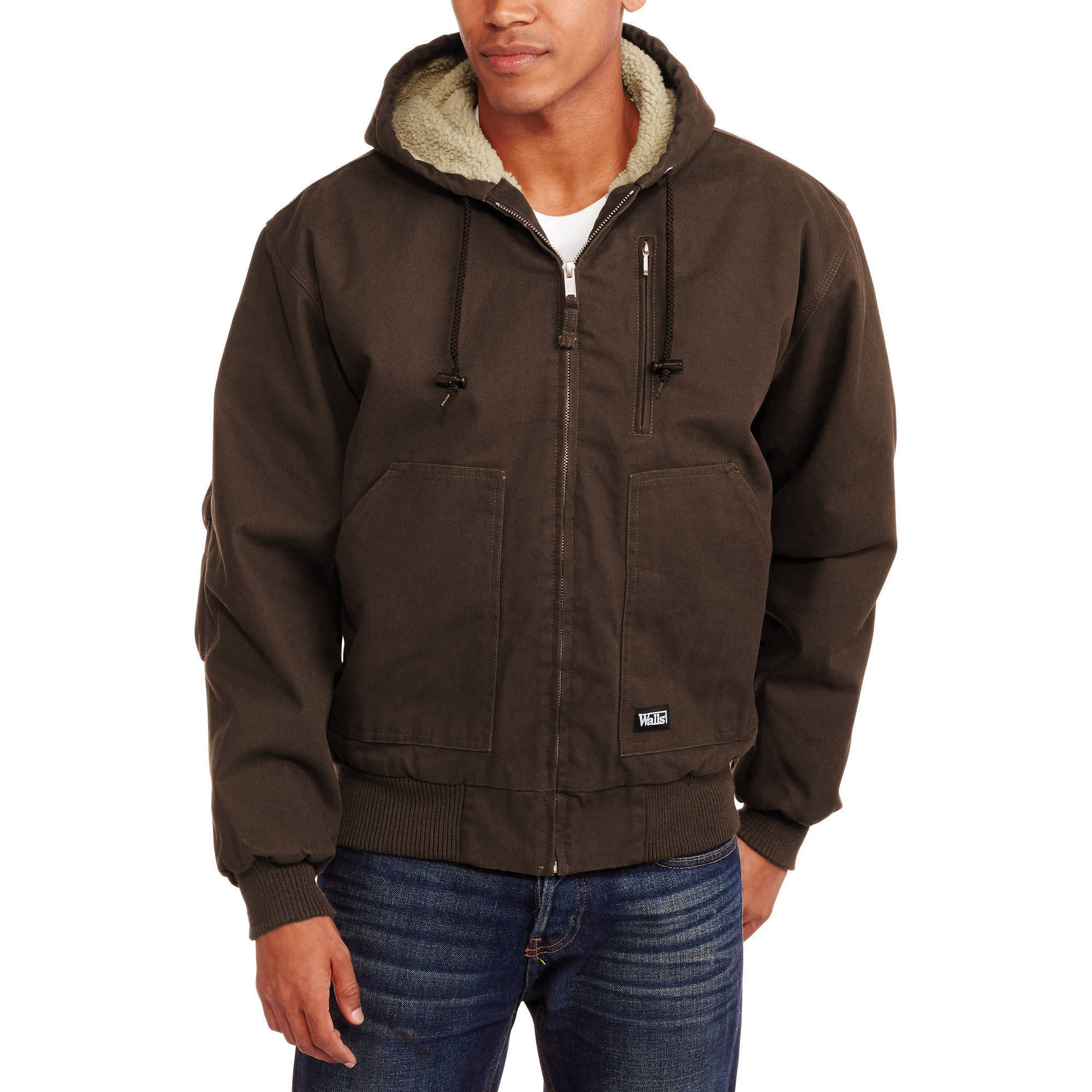 Walls Big and Tall Men's Washed Duck Sherpa Lined Hooded Jacket