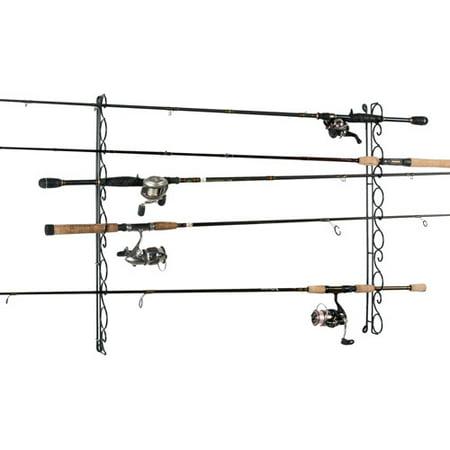 Organized fishing 9 capacity wire horizontal ceiling rod for Fishing rod holders walmart