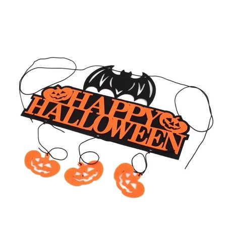 cnmodle Happy Halloween Banners Pumpkin Hanging Flags Ornament Party Wall Decor - Halloween Party Decors