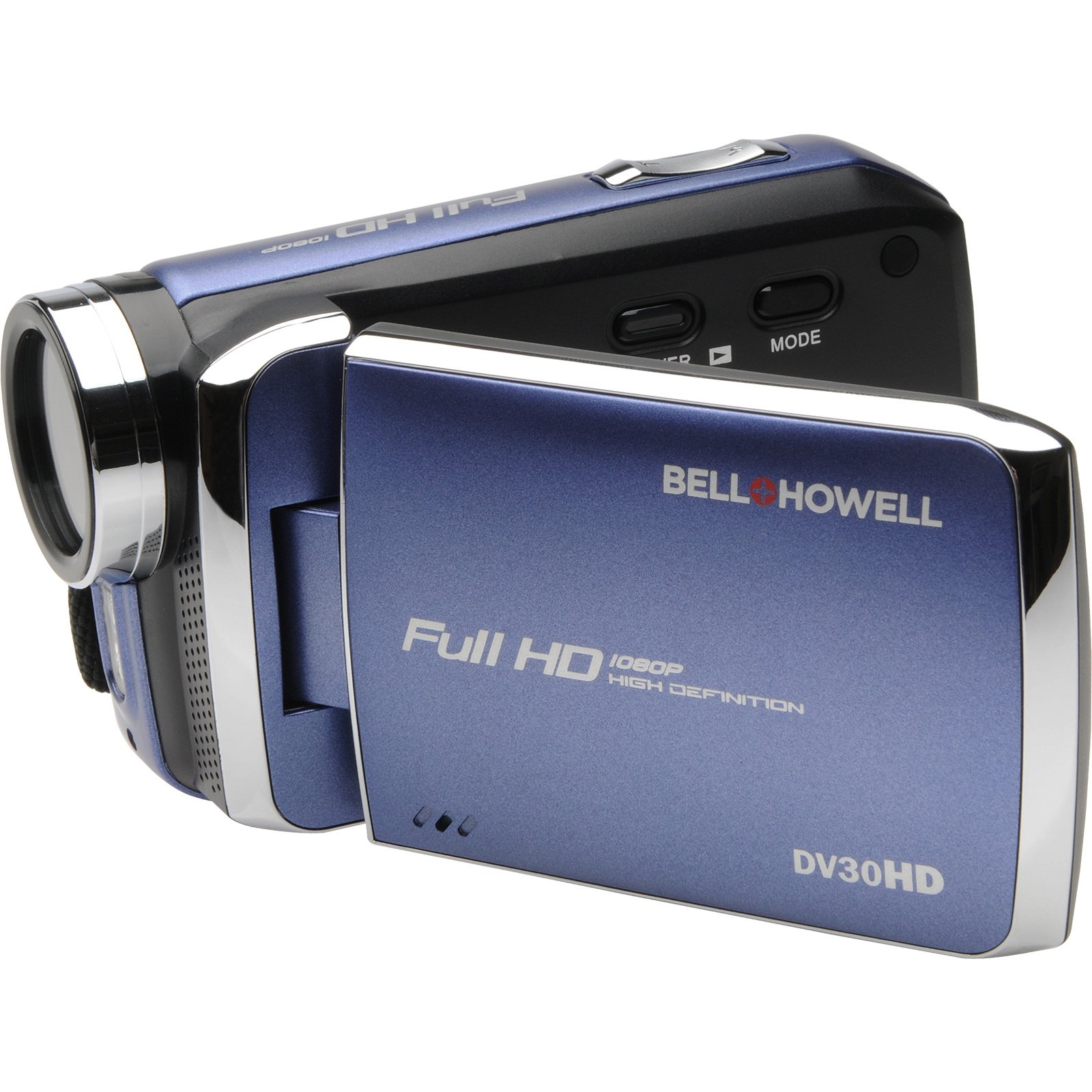 "Bell+howell Digital Camcorder - 3"" - Touchscreen Lcd - Full Hd - Blue - 16:9 - 20 Megapixel Image - 8x Digital Zoom - Electronic, Optical [is] - Video Light - Hdmi - Microsd Card, Microsd (dv30hd-bl)"