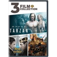 3 Film Collection: Legend Of Tarzan / King Arthur / Troy (DVD)