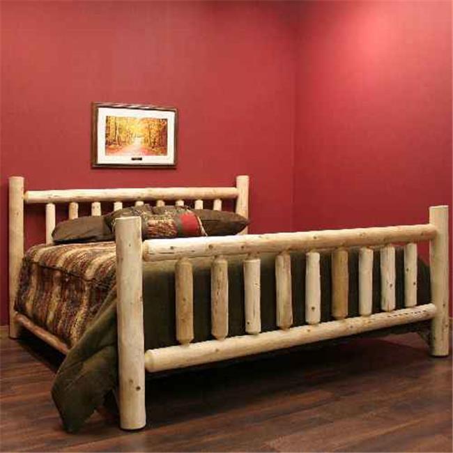 Lakeland Mills ALK76-V Cedar Low Post King Bed Vintage Whiskey by Lakeland Mills