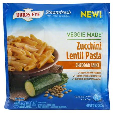 Birds Eye Veggie Made Zucchini Lentil Pasta Cheddar Sauce 10 Oz