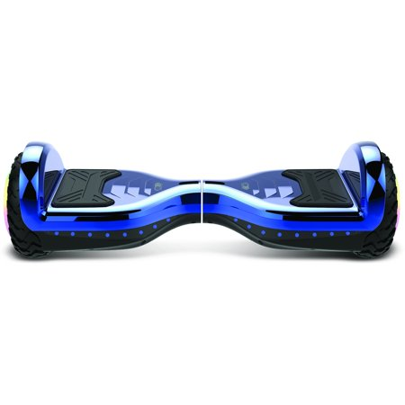 Gyrocopters PRO 6.0 Off-Road Hoverboard - UL 2272, Bluetooth, LED wheels, APP, No Fall Technology, Front and Back lights, Bag (Chrome Blue) - image 6 of 9